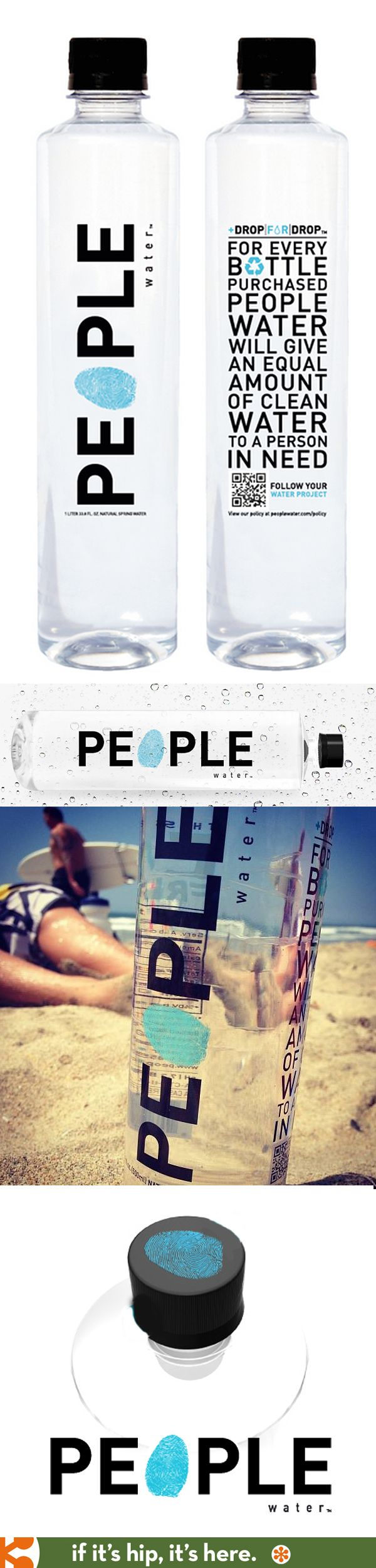 People Water in a nice bottle design complete with thumbprint on the cap. PD