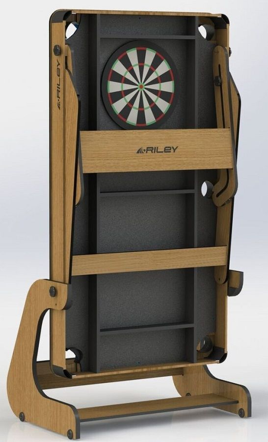 This RFPT 6 6ft Vertical Folding Pool Table Includes A Soft Tip Element  When Folded