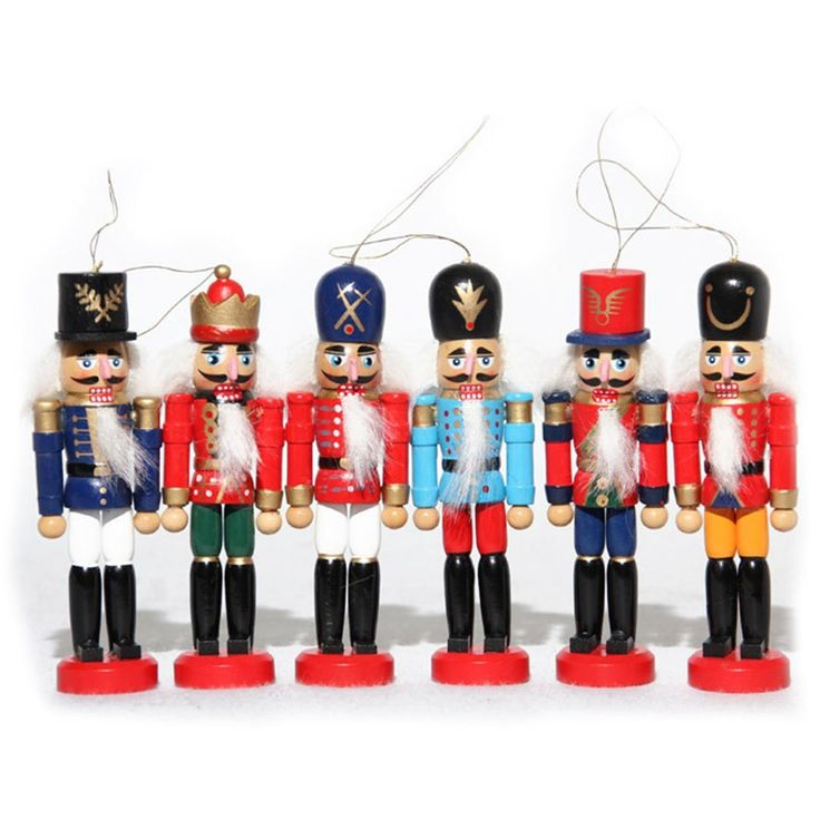 Naimo 6 Piece Christmas Wooden Nutcracker Soldier Ornament Decoration For Home Gift Sensational