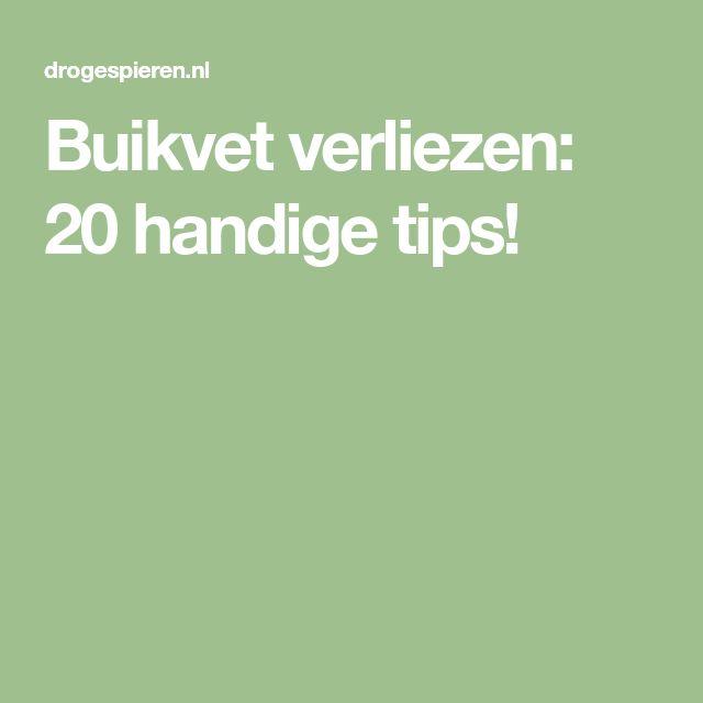 Buikvet verliezen: 20 handige tips!