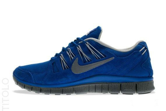 premium selection 569da 3779d Nike Free 5.0+ EXT Hyper Blue Cool Grey Anthracite Strata Grey 580530 400