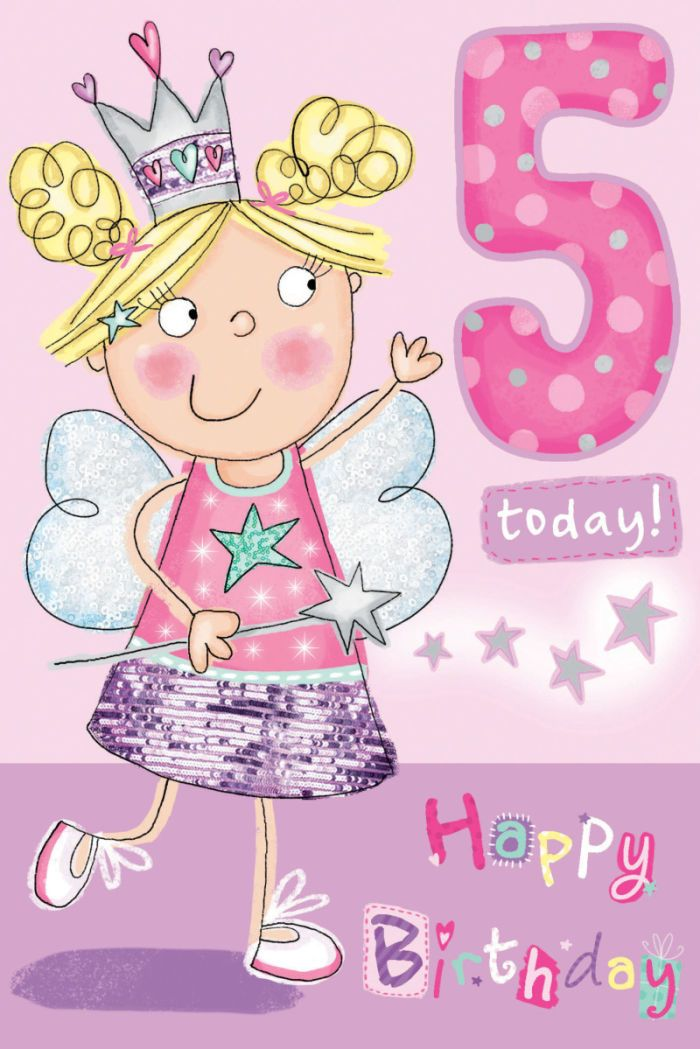 Happy 5th Birthday Quotes For Daughter: Helen Poole - GC35019 Girl 5 Fairy Card.jpg