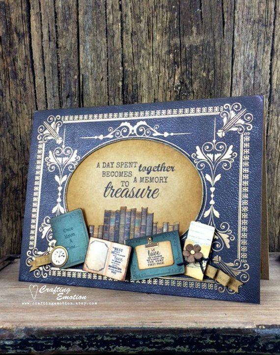 Photo Memory Keepsake Handmade Greeting Card, Scrapbook an occasion without committing to an entire album!  By Crafting Emotion $16.75AUD
