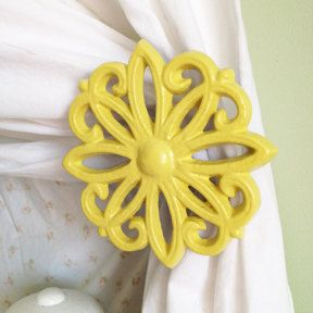 Curtain Tie Backs, Set of 2, Curtain tiebacks, Holdbacks, Window Accessories, Lemon Yellow on Etsy, £16.44