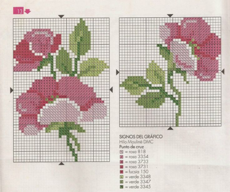 Gallery.ru / Фото #24 - toalha ramo de rosas e barras diversas - nandauromi