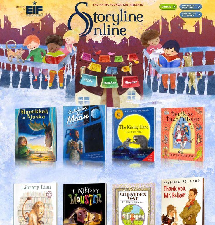 På websiden Storyline Online læser forskellige amerikanske skuespillere børnebøger højt, mens man på video kan følge med i historien ved at se på bogens illustrationer på egen skærm eller IWB-tavle…