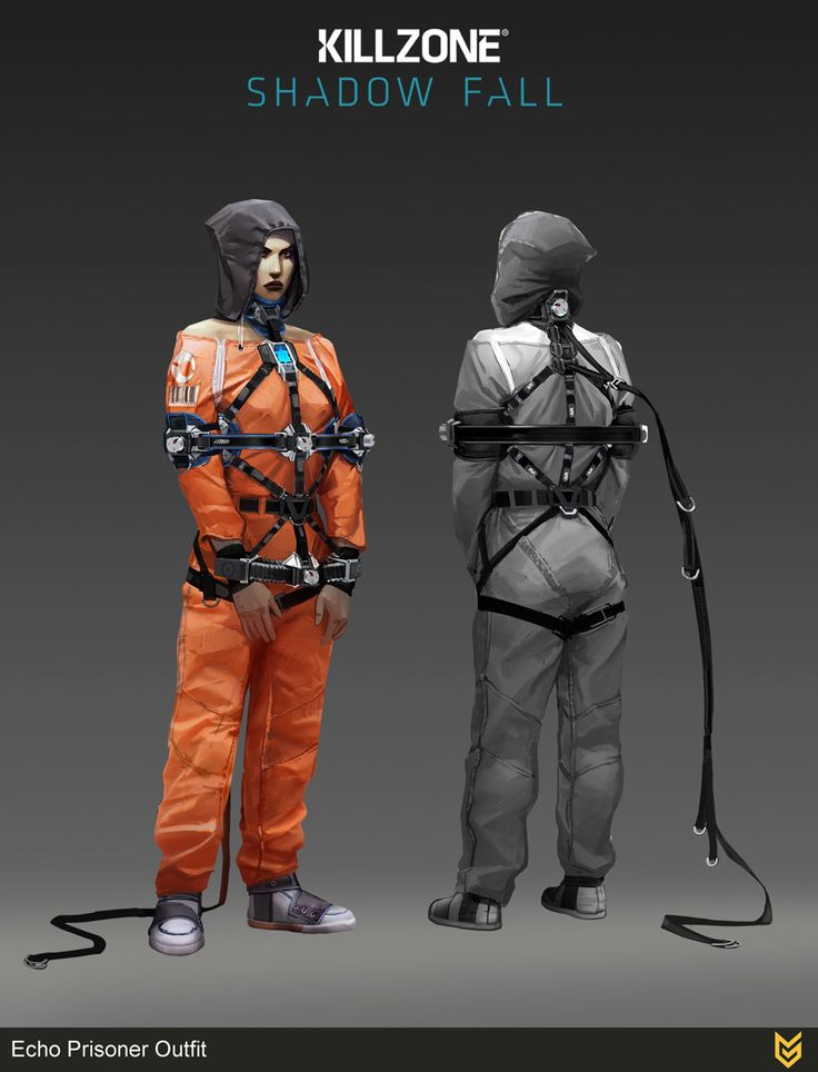 Echo prisoner outfit, Ilya Golitsyn on ArtStation at https://artstation.com/artwork/echo-prisoner-outfit