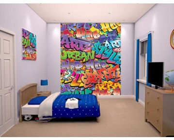 Lovely Graffiti Wall Mural Perfect For A Teenagers Room! Available At  Www.middletonwood.co Part 19