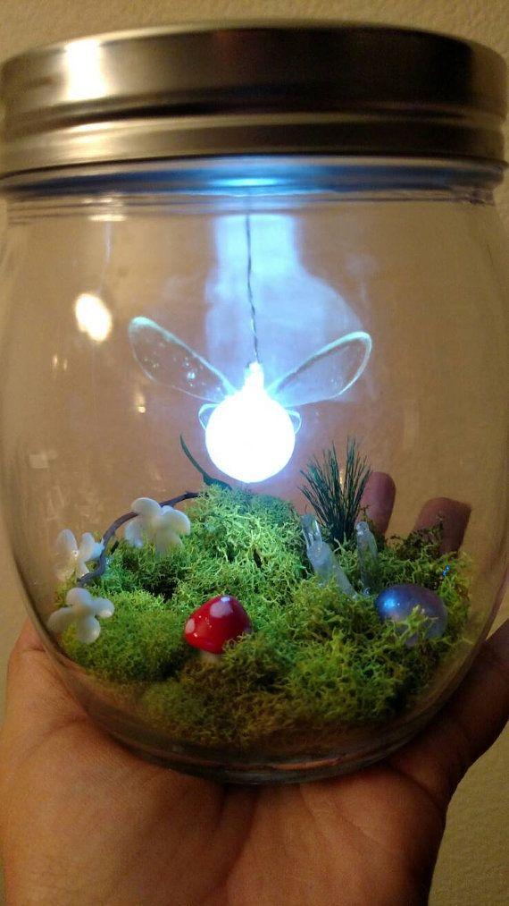 Navi in a glass legend inspired by Zelda / lights above