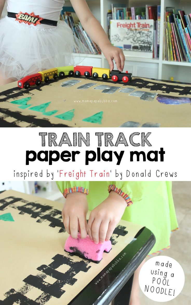 Train Track Paper Play Mat | DIY play mat :: make your own train set