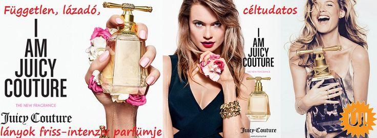 Juicy Couture I Am Juicy Couture női parfüm   http://www.parfumdivat.hu/parfumdivathazak/juicy-couture-i-am-juicy-couture-noi-parfum.html Független, lázadó, céltudatos lányok friss - intenzív parfümje.  Juicy Couture legújabb üdvöskéje I Am Juicy Couture. Tisztelgés a magabiztos, bátor Juicy lány előtt, akinek minden napját a szabad szelleműség és egyéni stílusa hatja át.  Juicy Couture lányt az illat segíti ambíciói elérésében, bátorságot merít belőle.