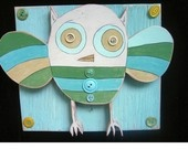 owl: Cabbagetown Art, Colors, Paintings On Wood, Kukucaju, Vintage Shops, Painting On Wood, Lolly Owl, Owls, Art Projects
