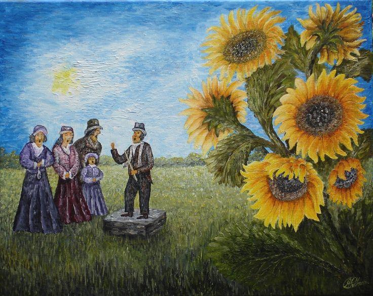 Ode aan v .Gogh,s zonnebloemen