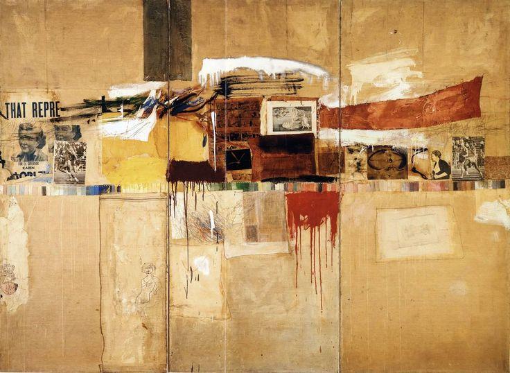 """Rebus"" by Robert Rauschenberg, 1955."