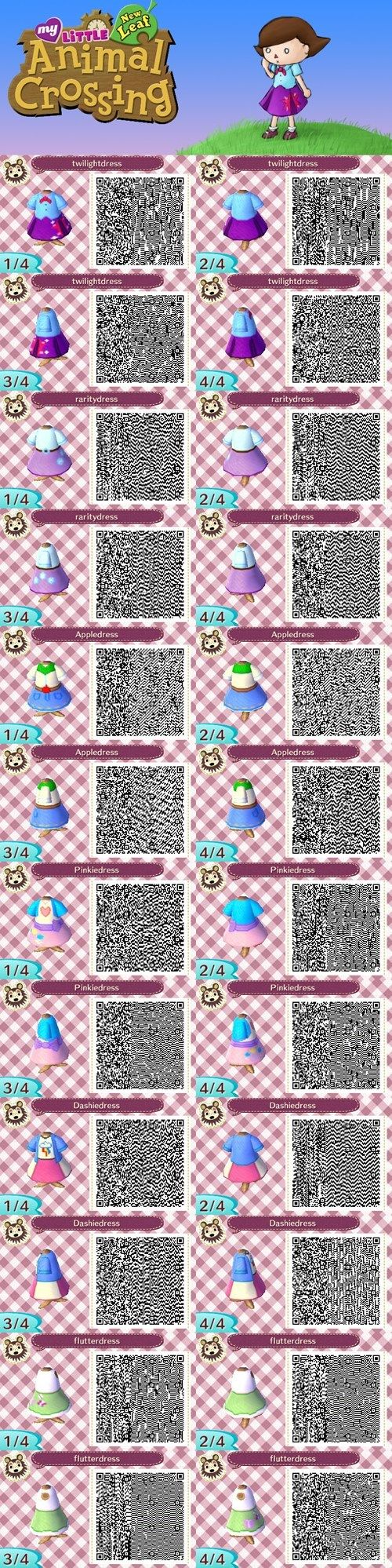 My Little Pony Equestria Girls Animal crossing QR codes-this is a beautiful thing