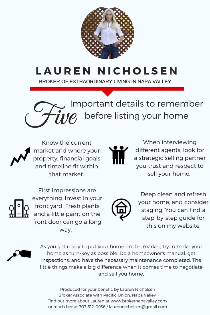 5 Important details to remember before listing your home. Real estate marketing, real estate listing, selling a home — Lauren Nicholsen