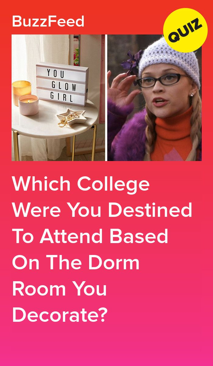 Decorate Your Dorm Room And We'll Reveal Which College You Were