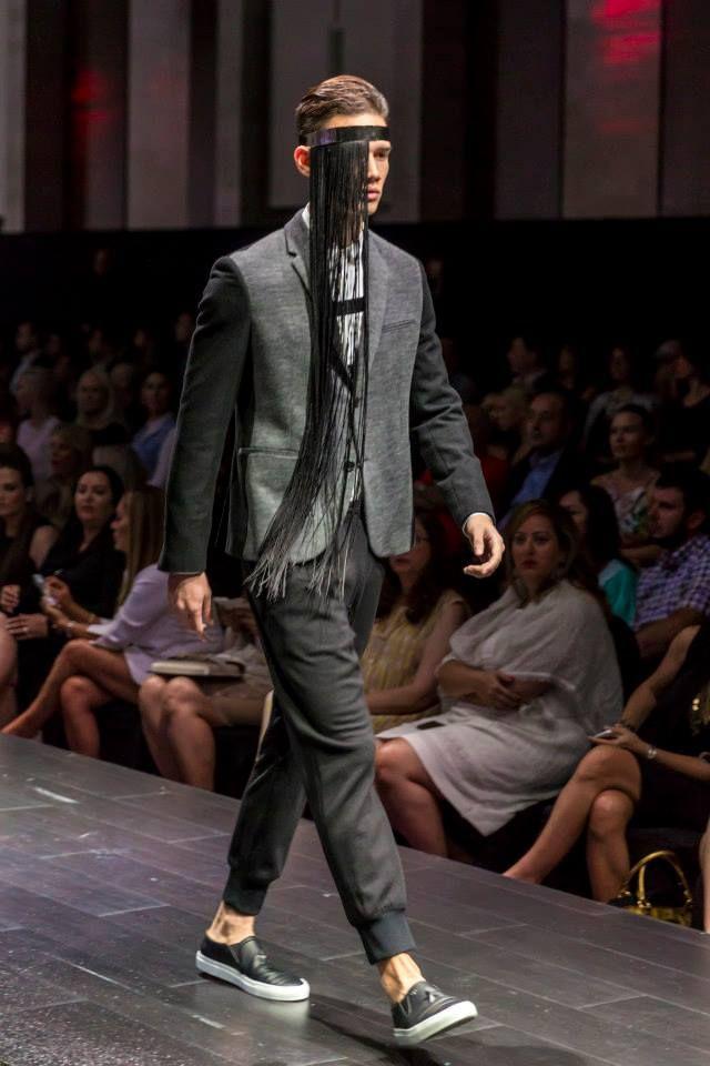 Neil Barrett (shirt, jacket & trousers) and Givenchy (shoes) at Harvey Nichols - Dubai