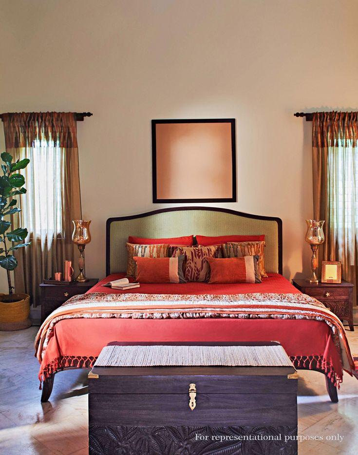 Buy Fabindia Sheesham Wood Akund Upholstered Saloni Bed