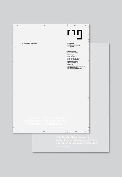 Michael Großmann Architekt – Briefbogen