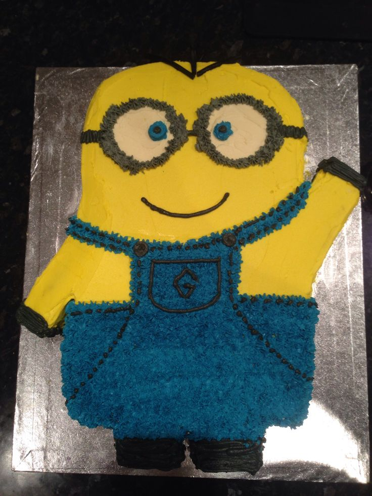 Slab Minion chocolate cake with butter cream icing.