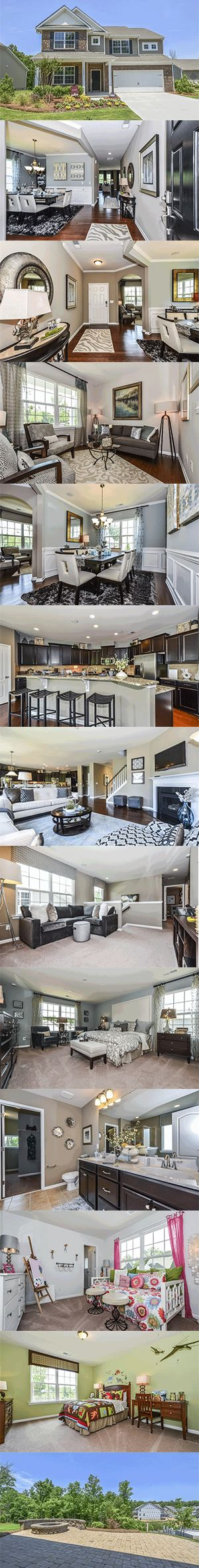 Forsyth from @lennarcharnc - A 4 bedroom, 3.5 bath home featuring a large kitchen open to a family room, formal dining and living room, an optional study, a spacious owner's suite upstairs, plus a bonus room or optional 5th bedroom and loft.