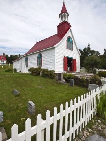 The Historic Indians Chapel in Tadoussac, Quebec, Canada, North America