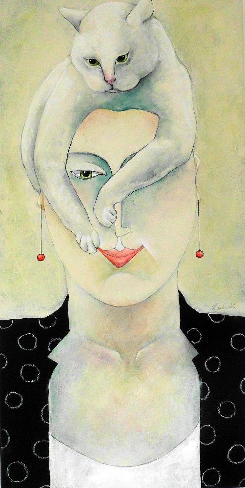 Bad Hair Day-50x100 Cm by carla Raadsveld on ArtClick.ie