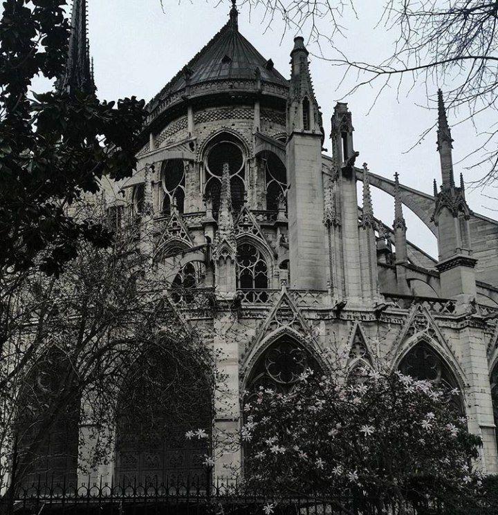 ретро фото готической архитектуры это