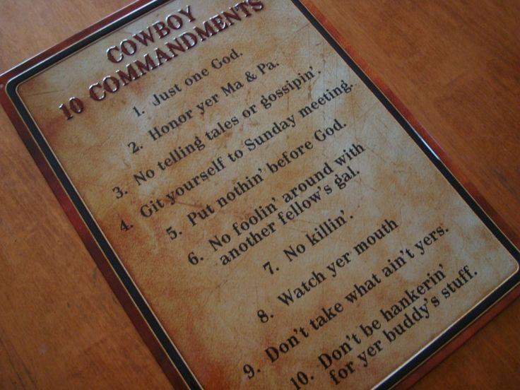 Ranch Style House Decor | ... COMMANDMENTS Old West Primitive Country Western Sign Ranch Home Decor