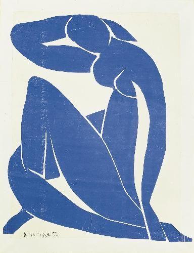Matisse - Nu bleu II - 1952                                                                                                                                                                                 Plus