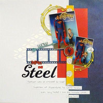 Scrapmatts: Man of Steel - Lauren Tomecek