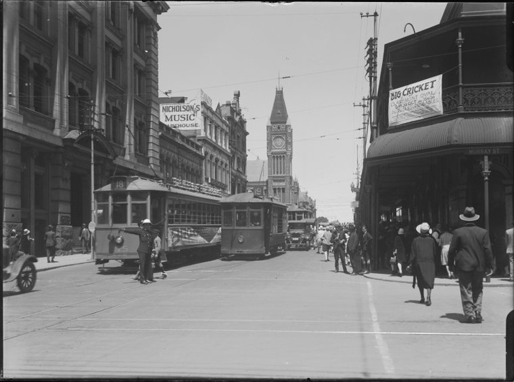 Cnr Barrack and Murray Streets, Perth, looking south, 1929.