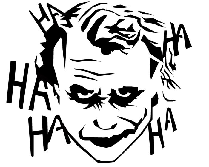 Joker marvel comics silhouettes google search drawing