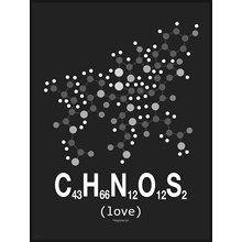 Molekyle Kærlighed sort/hvid 50x70 fra Incado