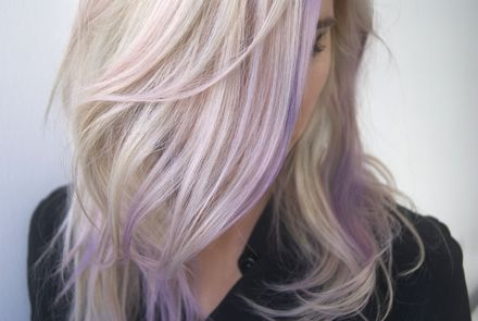 We Got Purple Hair Like Nicole Richie's (Without Setting Foot In A Salon)!