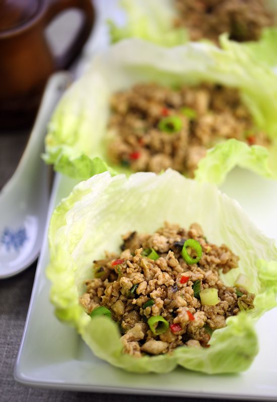 San Choy Bow (Chinese Stuffed Lettuce Cups) lean pork mince is really nice too.