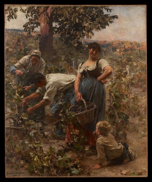 Léon-Augustin Lhermitte (French, 1844–1925). The Grape Harvest, 1884. The Metropolitan Museum of Art, New York. Gift of William Schaus, 1887 (87.22.2)
