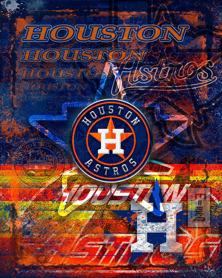 Houston Astros Poster, Houston Astros Art, Houston Astros