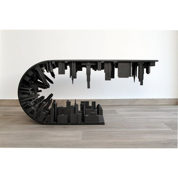 PRODUCTS :: LIVING AND DESIGN :: Furniture :: Coffee table :: Wave City Coffee Table Black Edition