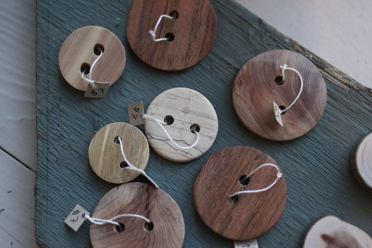 Handmade wooden buttons by Harry Vick of Texada Island, BC. #buttons #wooden #kitting #accessory #handcrafted