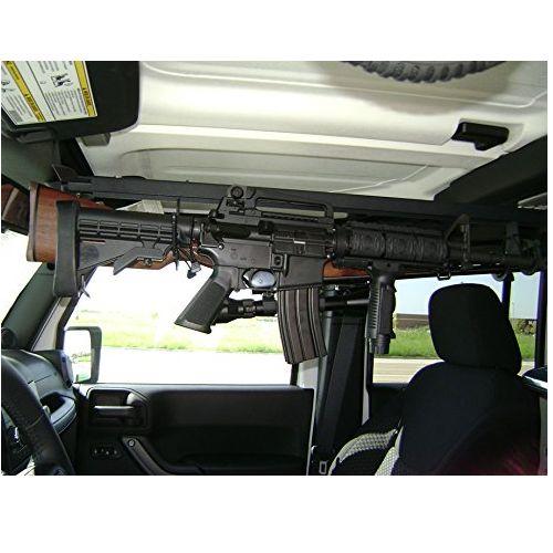 Jeep Wrangler Jk Jku Overhead Gun Rack Holder Diy Jeep