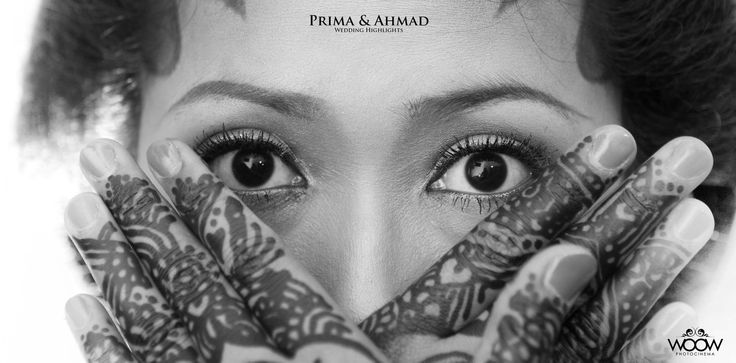The Bride, Traditional Wedding of Indonesia, Beauty Eyes behind Futuristic Hands