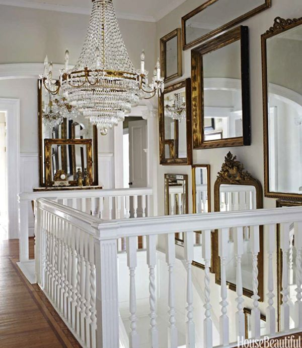 luxe + lillies: Decor Ideas, Mirror Mirror, Gold Mirror, Antiques Mirror, Wall Of Mirror, Galleries Wall, Mirror Wall, Mirrormirror, Frames Mirror