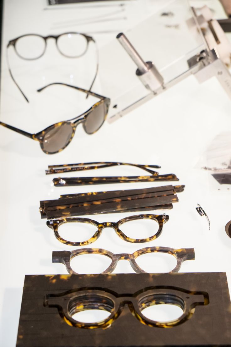 our prototyps for Armani Eyewear #Luxottica #craftsmenship