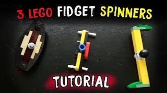 How to Build 3 Different LEGO Fidget Spinners - YouTube