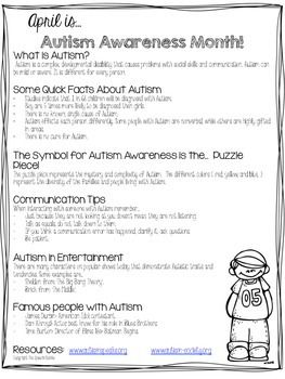 Autism Awareness Month Resources — The Speech Bubble                                                                                                                                                                                 More