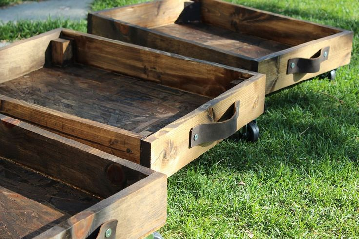 DIY Rolling Storage Cart - Chic, stylish storage is the new black. These industrial-styled DIY rolling storage carts are a perfect solution for storage needs, whether hidden or on display for the world to see (or a hazy somewhere in between). Storage space can be nonexistent at times, but spaces under beds are a perfect space for some custom storage bins.