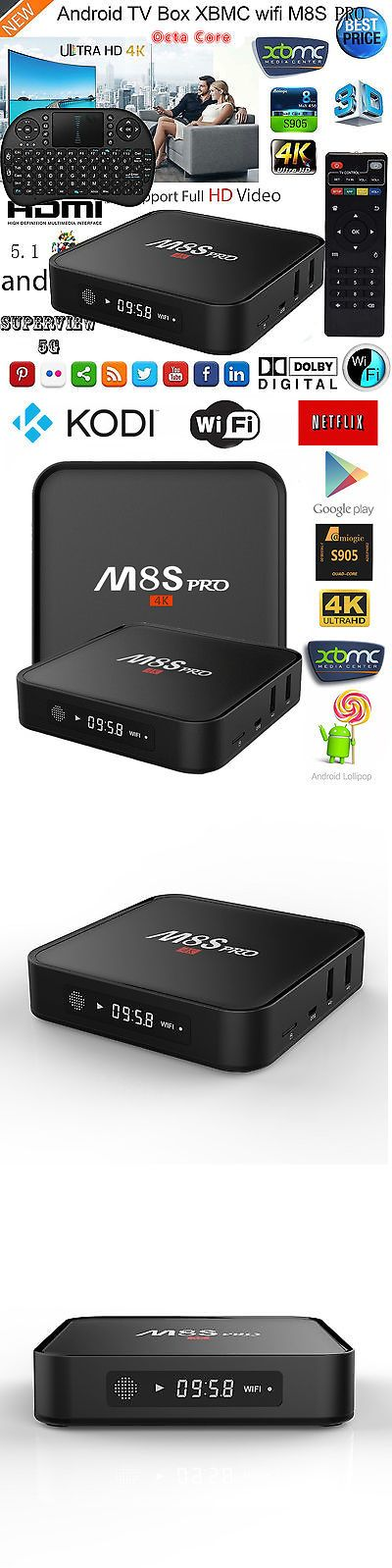 Internet and Media Streamers: 4K Hd Wifi Smart Tv Box Android 5.1 Octa Core Kodi Media Player+Wireles Keyboard BUY IT NOW ONLY: $58.89
