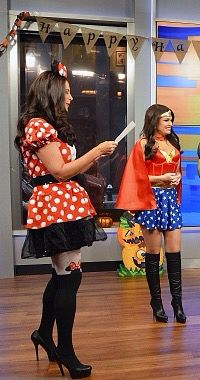 Kimberly Guilfoyle as Wonder Woman in thigh high stiletto ...